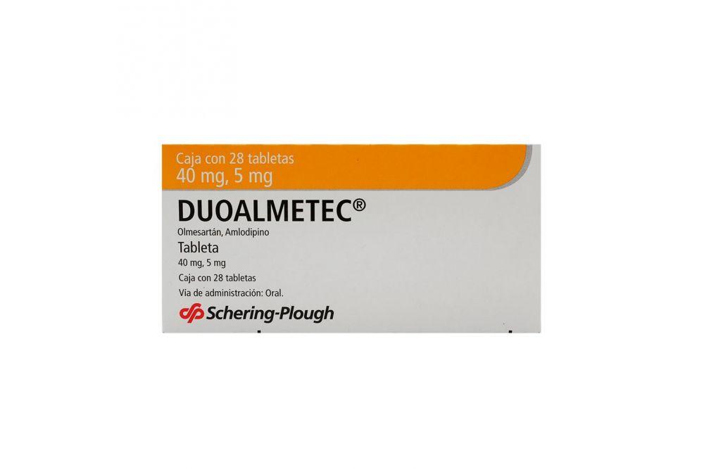 Duoalmetec 40 mg/5 mg Caja Con 28 Tabletas