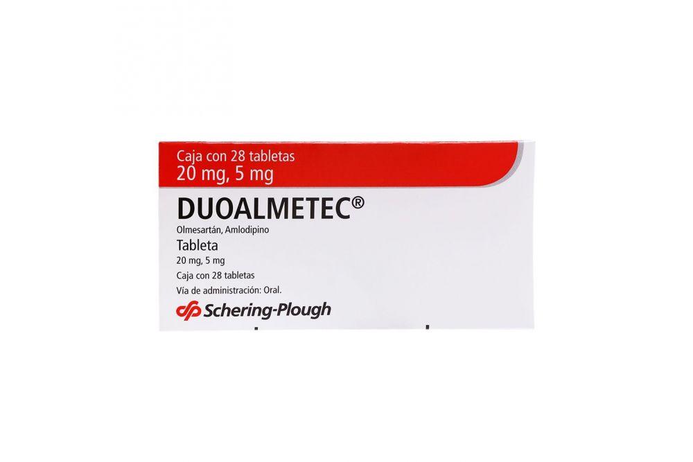 Duoalmetec 20 mg/5 mg Caja Con 28 Tabletas