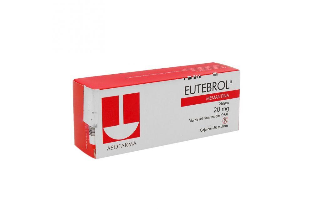 Eutebrol 20 mg Caja Con 30 Tabletas