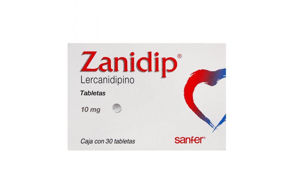 Zanidip 10 mg Caja Con 30 Tabletas