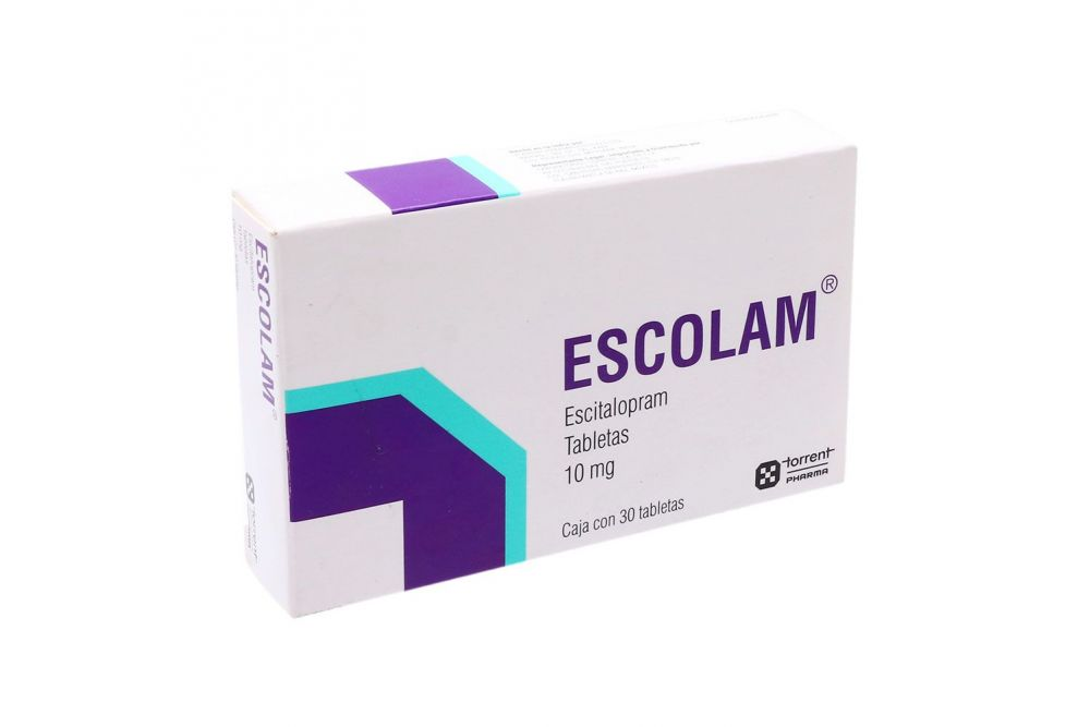 Escolam 10 mg Caja Con 30 Tabletas