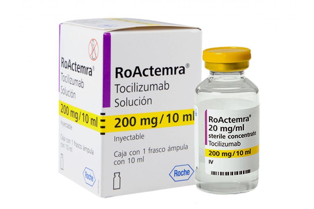 RoActemra 200 mg Solución Inyectable Caja Con 1 Frasco Ámpula 10 mL RX3