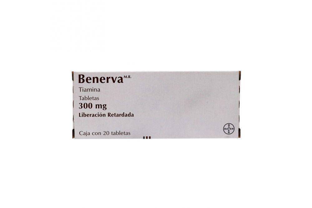 Benerva 300 mg Caja Con 20 Tabletas