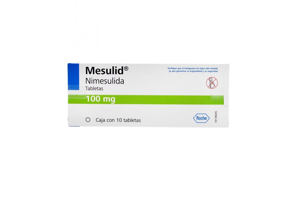 Mesulid 100 mg Caja Con 10 Tabletas
