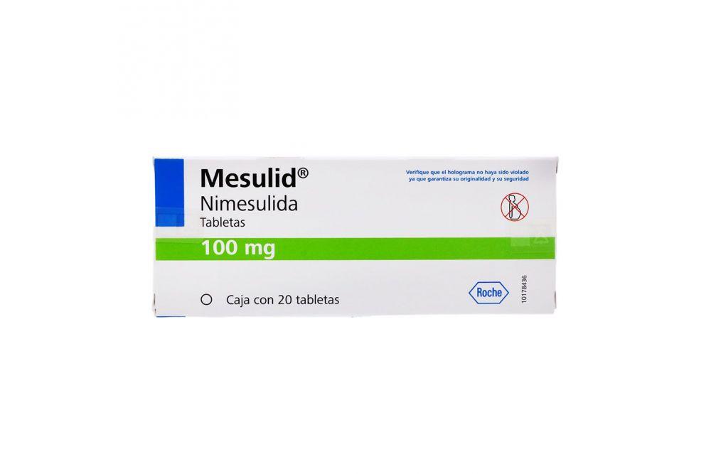 Mesulid 100 mg Caja Con 20 Tabletas