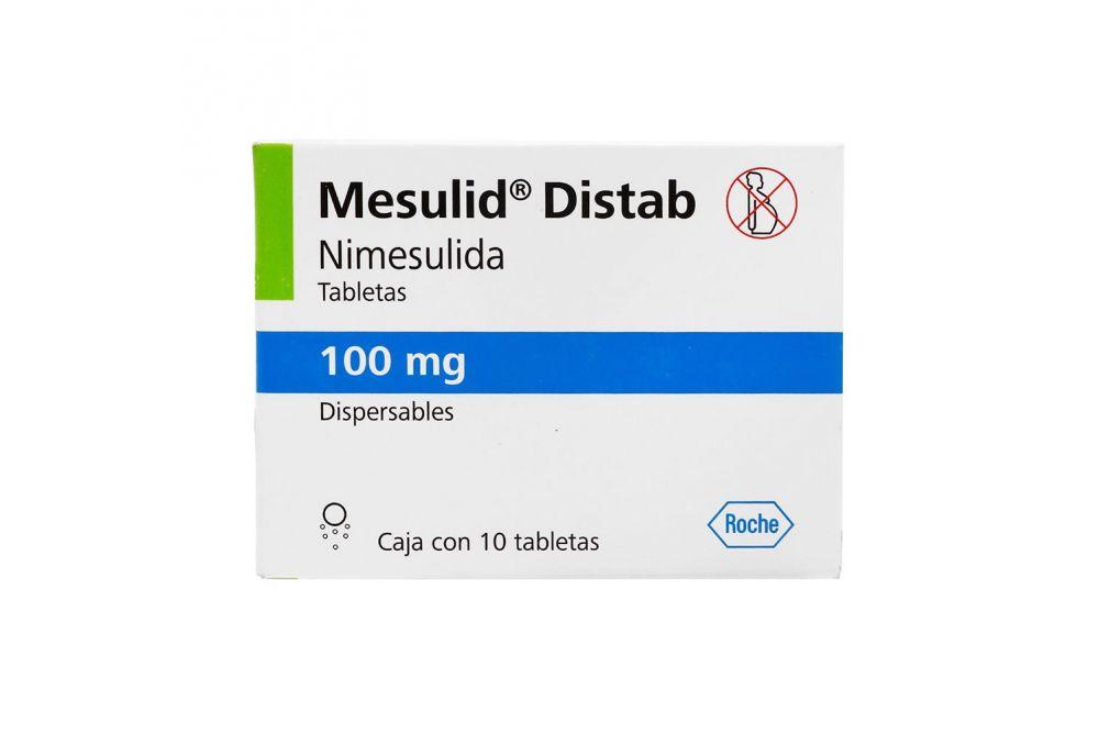 Mesulid Distab 100 mg Caja Con 10 Tabletas