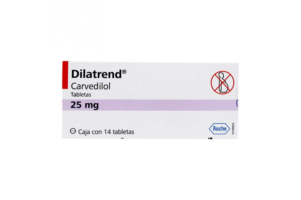 Dilatrend 25 mg Caja Con 14 Tabletas