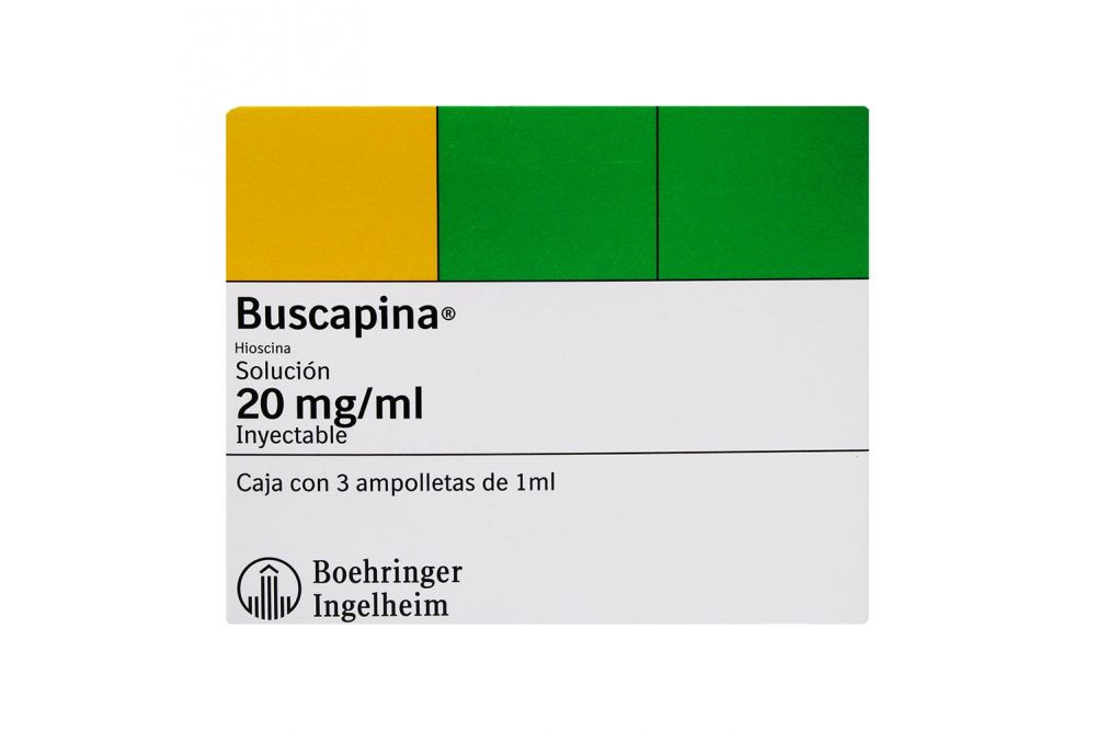 Buscapina 20 mg / mL Caja Con 3 Ampolletas De 1 mL