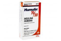 Humulin 70 / 30 Caja Con 2 Cartuchos De 3.0 mL Con 100 UI- Rx3