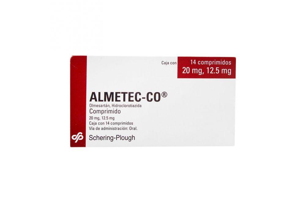 Almetec Co 20 mg Caja Con 14 Comprimidos