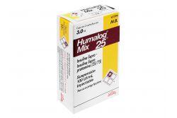 Humalog Mix 25 Solución Inyectable 100 UI / mL Caja Con 2 Cartuchos 3.0 mL Rx3