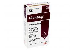Humalog 100 UI/mL Caja Con 2 Cartuchos Con 3.9 mL - Rx3