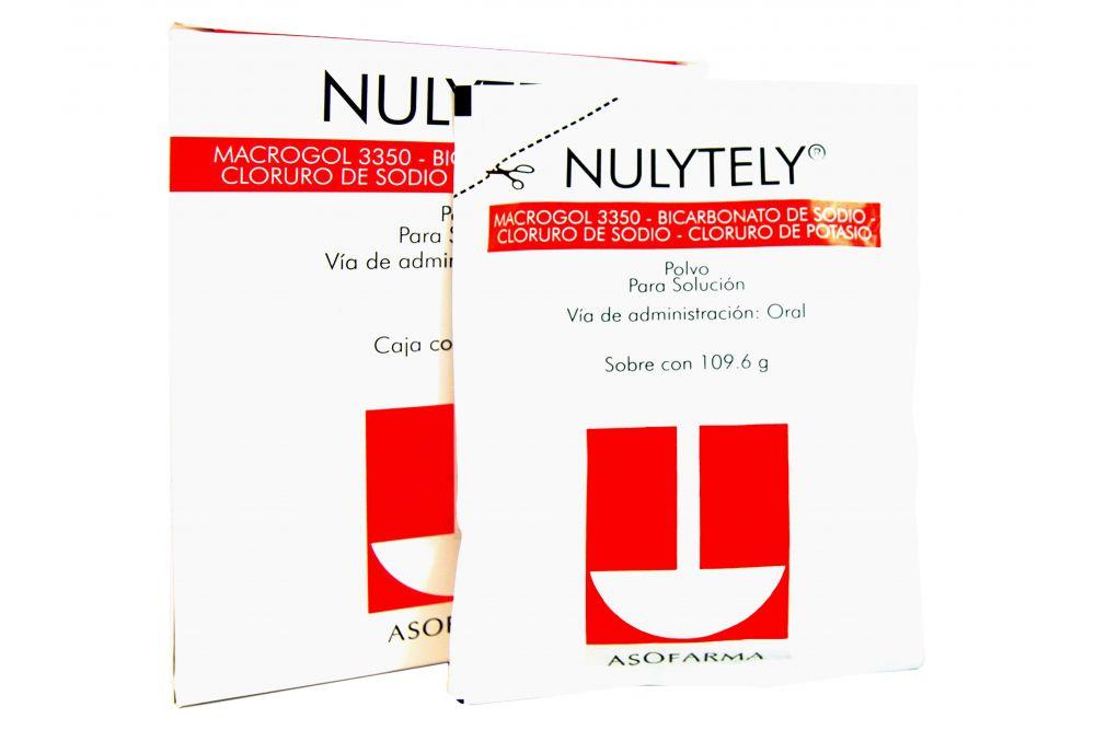 Nulytely Polvo 109.6 g  Para Solución Caja Con 4 Sobres