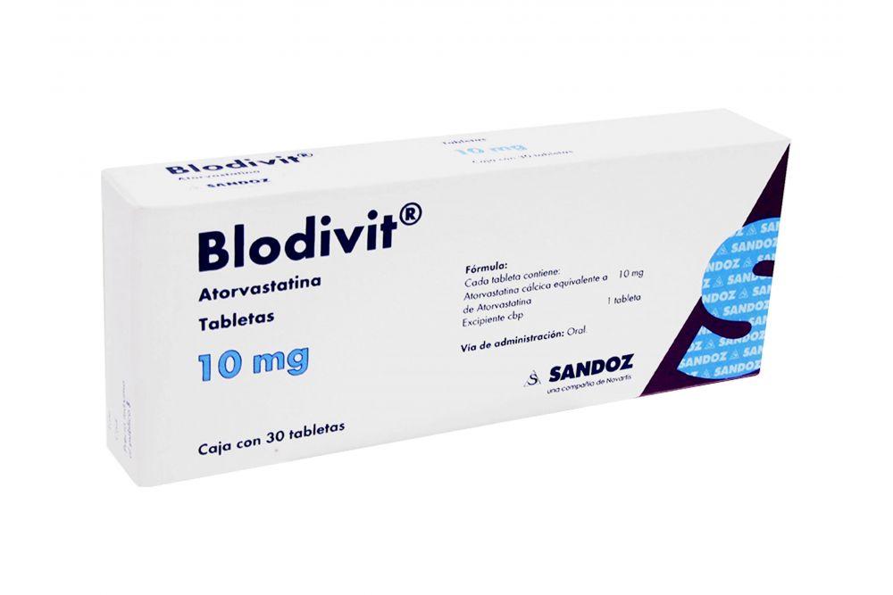 Blodivit 10 mg Caja con 30 Tabletas