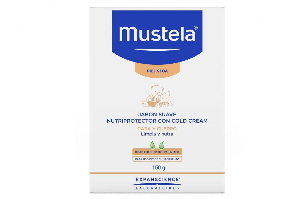Mustela Jabón En Barra Piel Seca Súper Graso Con Cold Cream Caja Con Barra De 150 g