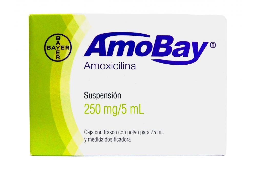 Amobay 250 mg Caja Con Frasco Con Polvo Para 75 mL - RX2