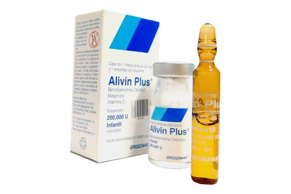 Alivin Plus Infantil 200,000 U Caja Con Frasco Ampula RX2