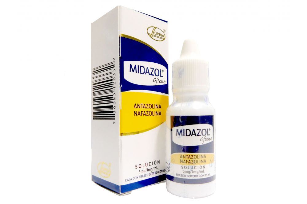 Midazol Ofteno 5mg/1mg/mL Caja Con Frasco Gotero Con 15mL