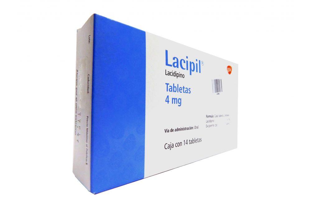 Lacipil 4mg Caja Con 14 Tabletas