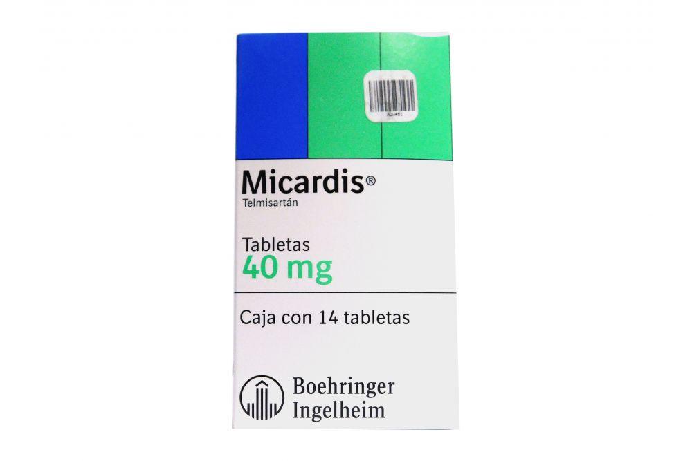 Micardis 40 mg Caja Con 14 Tabletas