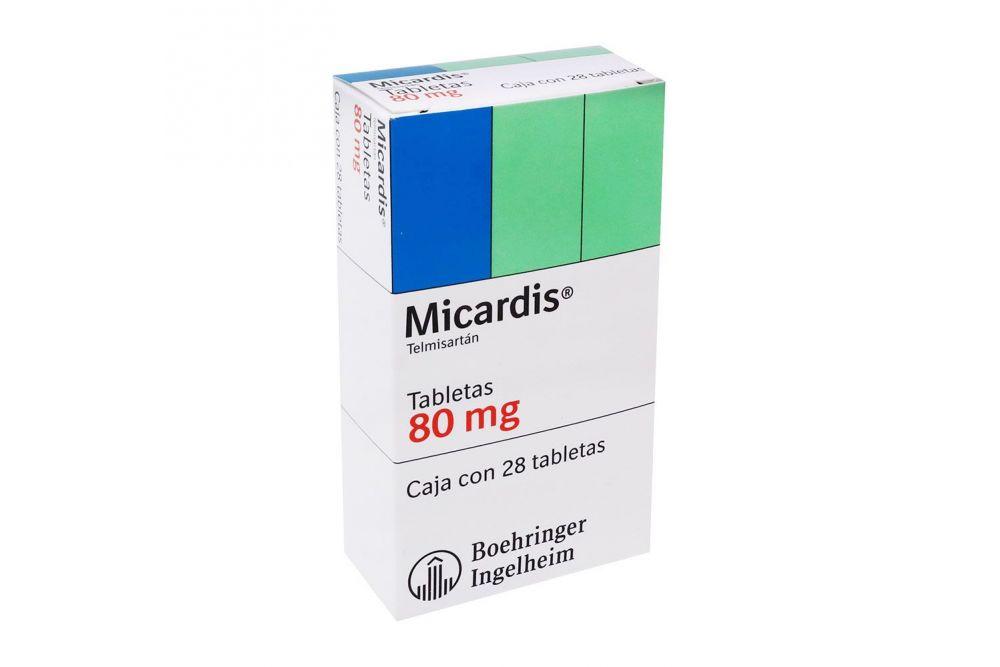 Micardis 80 mg Caja con 28 Tabletas