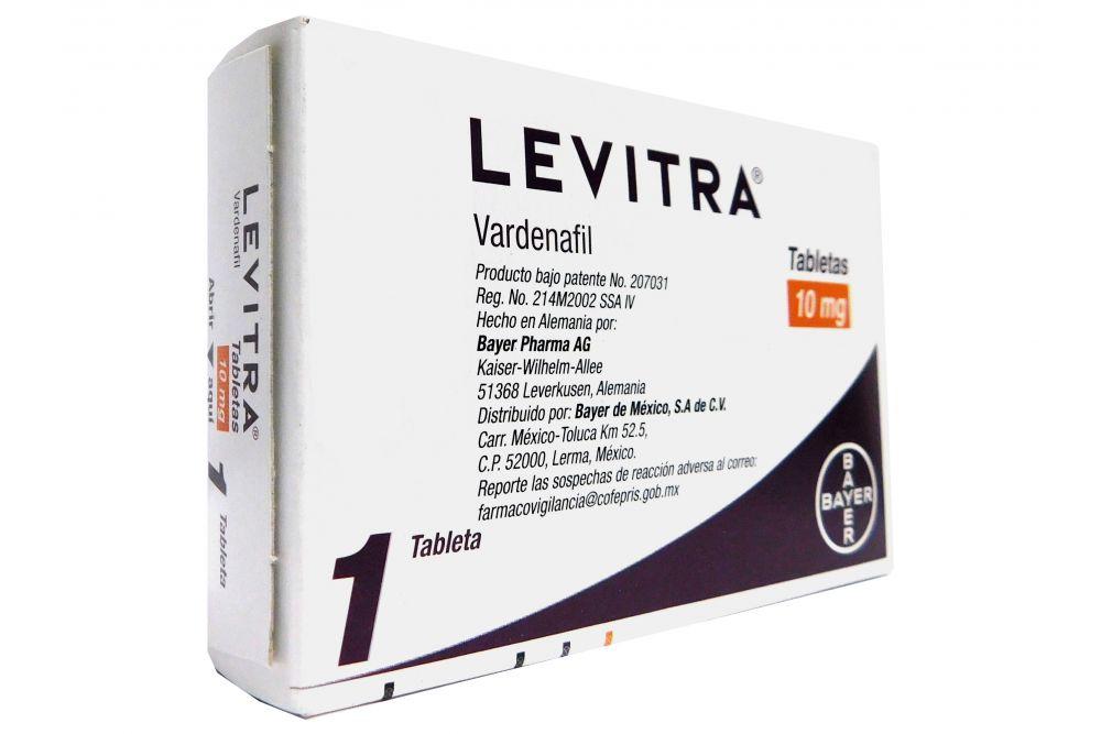 Levitra 10 mg Caja Con 1 Tableta