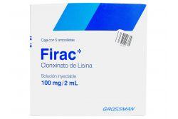 Firac 100 mg / 2 mL Caja con 5 Ampolletas