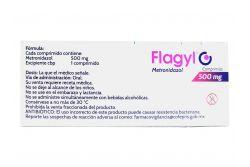 Flagyl 500 mg Caja Con 30 Comprimidos