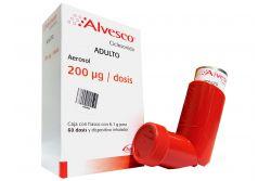 Alvesco Adulto 200 mg Con Frasco Con 6.1 g Para 60 Dosis y Dispositivo Inhalador