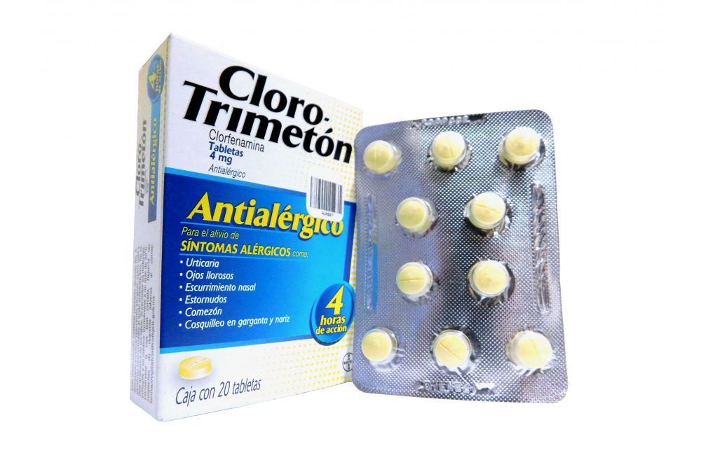 CloroTrimeton 4mg Caja Con 20 Tabletas