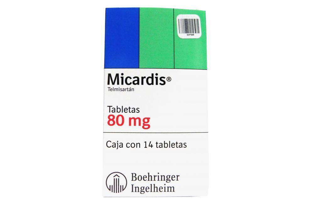 Micardis 80 mg Caja Con 14 Tabletas