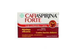 Cafiaspirina Forte 650 mg /65 mg Caja Con 24 Tabletas