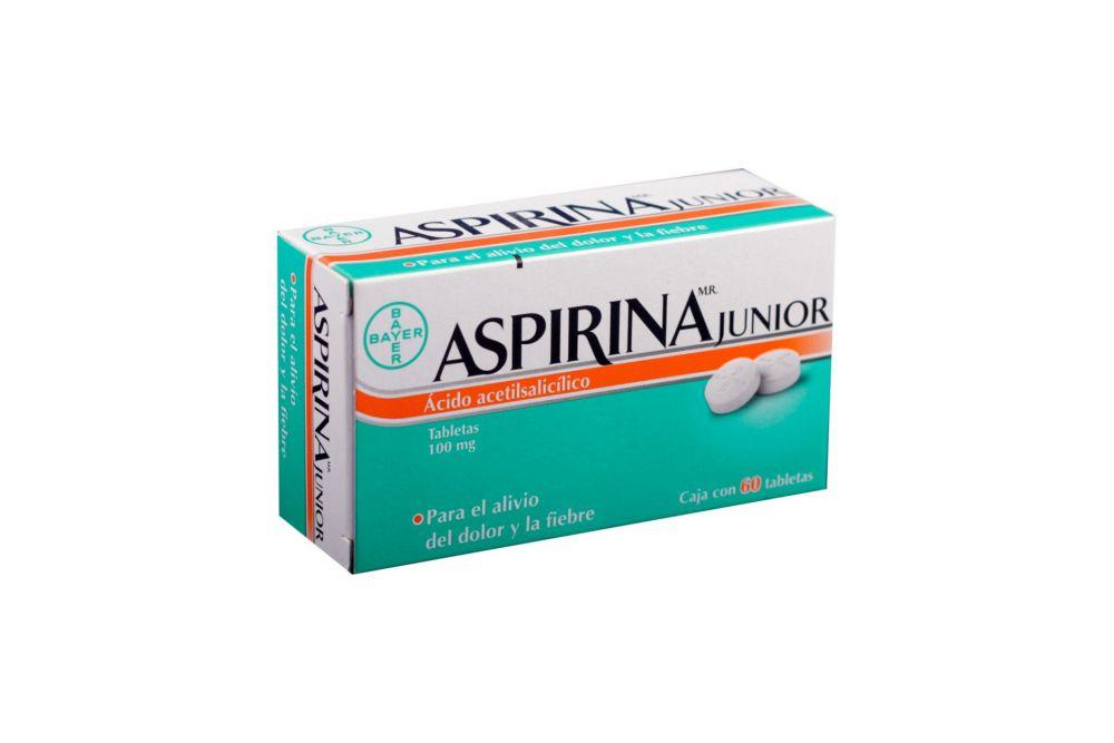Aspirina Junior 100 mg Caja Con 60 Tabletas