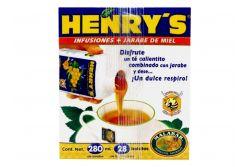 Infusiones + Jarabe De Miel Henry's 280 mL Caja Con 28 Sobres De 1g