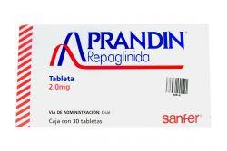Prandin 2 mg Caja Con 30 Tabletas