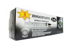 DL Jeringas Desechables De 3mL 22GX32mm Caja Con 5 Piezas