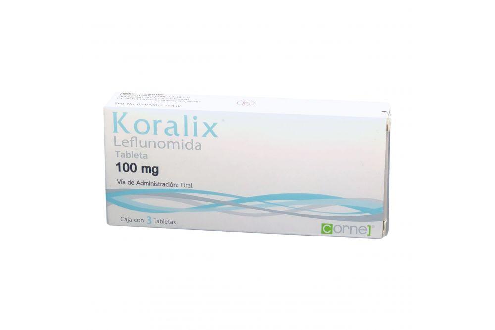 Koralix 100 mg Caja Con 3 tabletas