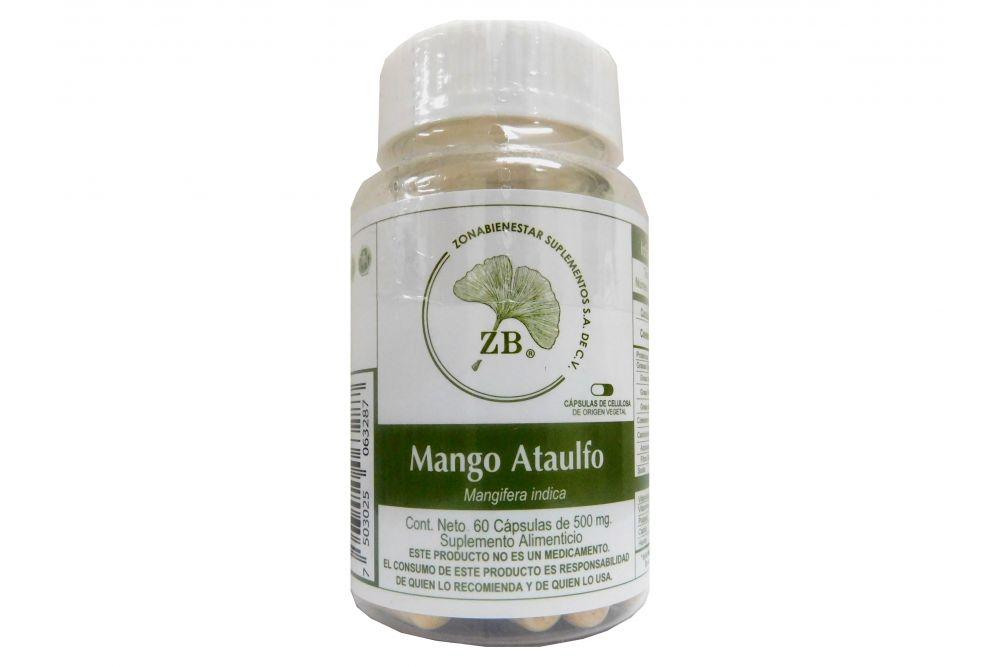 Mango Ataulfo Bote Con 60 Cápsulas De 500 mg