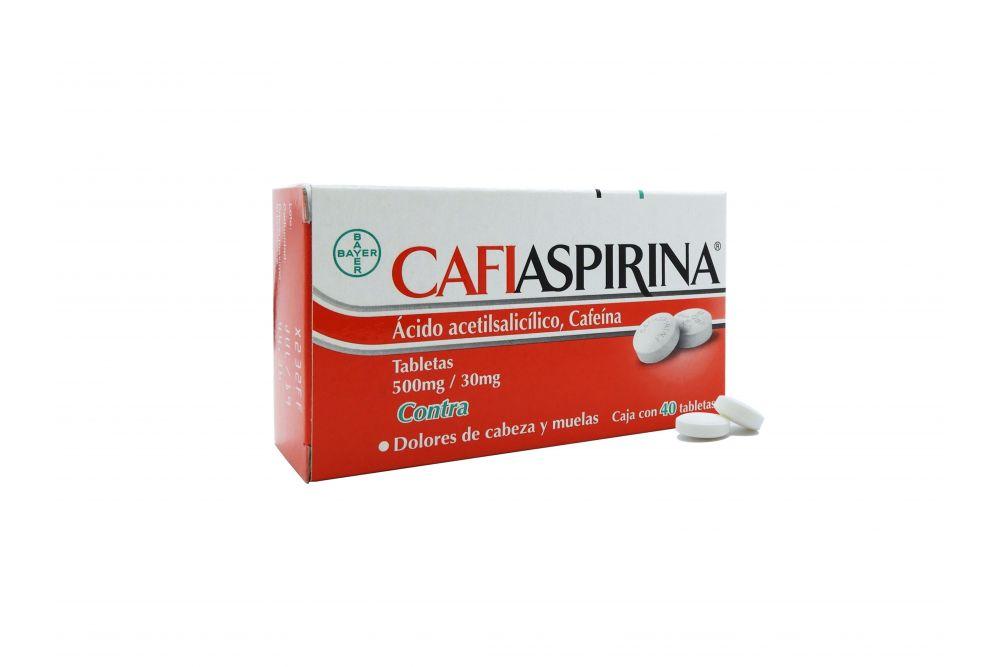 Cafiaspirina 500 mg/30 mg Caja Con 40 Tabletas