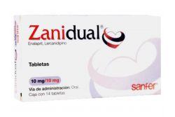 Zanidual 10 mg/10 mg Caja Con 14 Tabletas