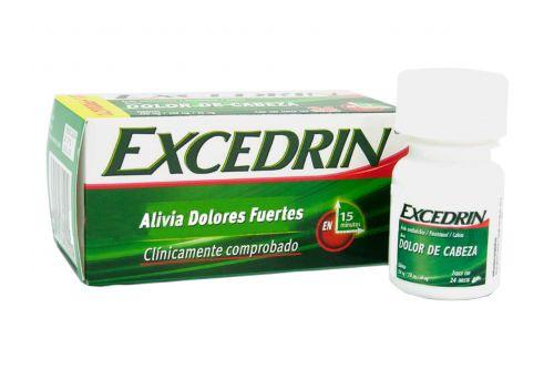 Excedrin 250 mg/ 250 mg/ 65 mg Caja Con Frasco Con 24 Tabletas