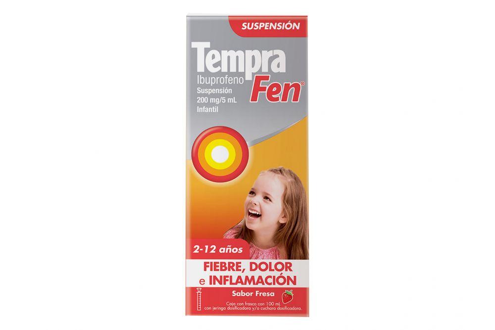 Tempra Fen 200 mg / 5 mL Caja Con Frasco Con 100 mL