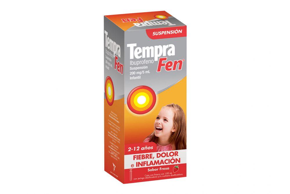 Tempra Fen 200 mg / 5 mL Fiebre