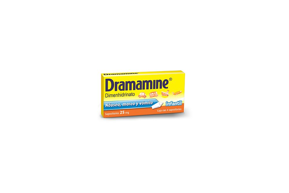 Dramamine Infantil 25 mg Caja Con 4 Supositorios