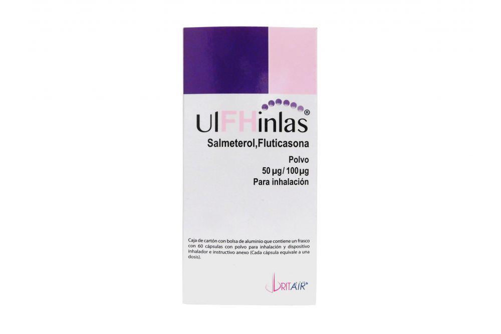 Ulfhinlas 50 Mcg / 100 Mcg Caja Con 60 Cápsulas y Dispositivo Inhalador