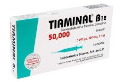 Tiaminal B12 50000 Caja Con Frasco Ámpula De 10 mL y 5 Jeringas