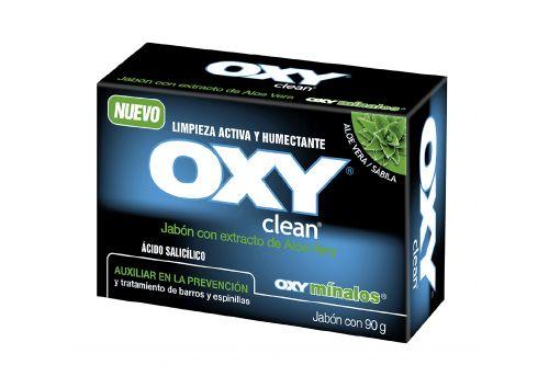 Oxy Clean Jabón Extracto De Aloe Vera 90 g Caja Con Barra