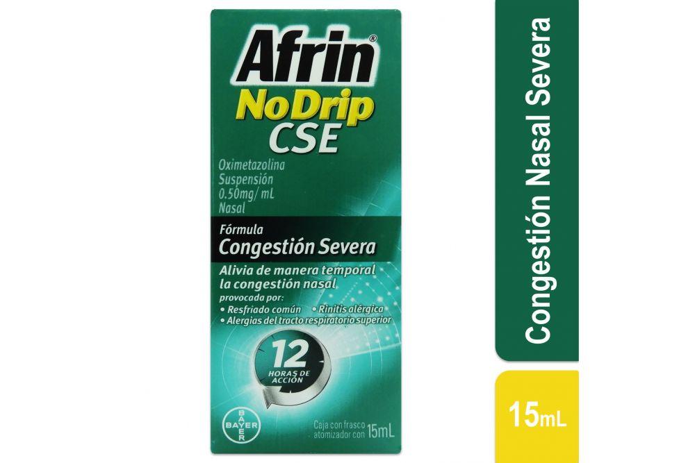 Afrin No Drip CSE Caja Con Frasco Nebulizador Con 15mL