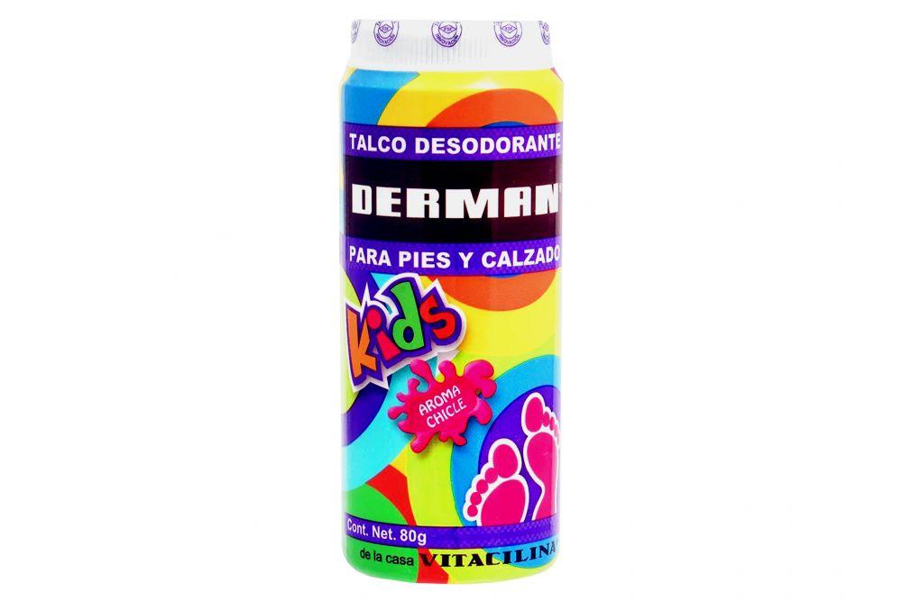 Derman Kids Talco Aroma Chicle Bote Con 80g