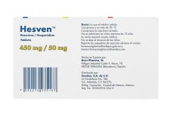 Hesven 450 mg/ 50 mg Caja Con 60 Tabletas